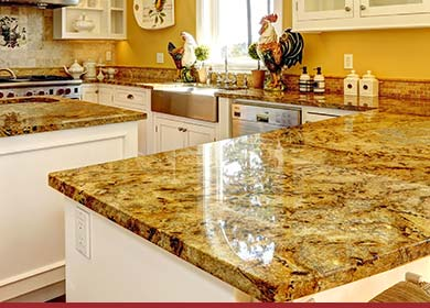 Beautiful Man Made Marble Kitchen Countertops Also
